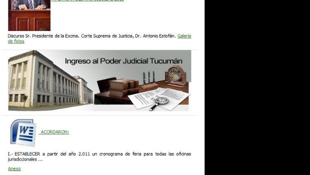 Siguen las inscripciones para empleados en el Poder Judicial