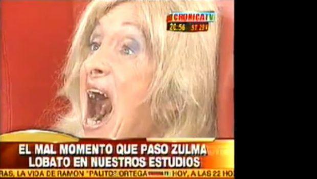 Mirá el video con la descompensación en vivo de Zulma Lobato en Crónica TV
