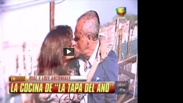 Jorge Rial-Niña Loly: la foto del primer beso