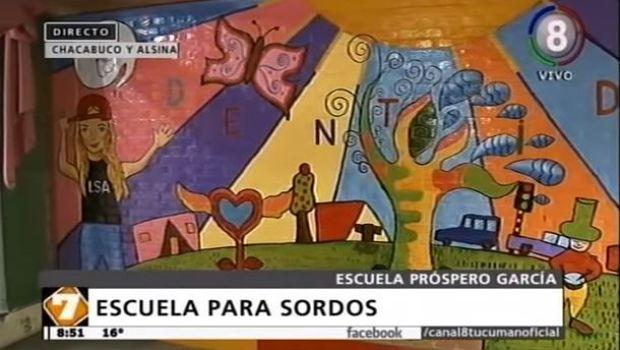 La Escuela Próspero García inaugura un artístico mural