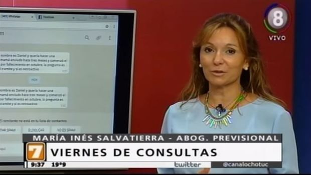 Columna de consulta previsional de la Dra. María Inés Salvatierra
