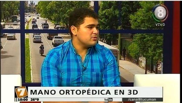 Un tucumano creo una prótesis robótica de bajo costo