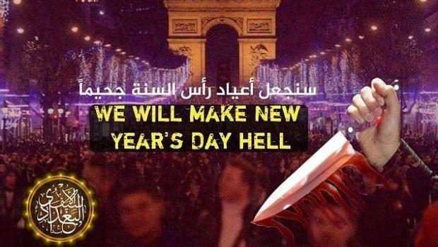 """ISIS amenazó con hacer de París """"un infierno en Año Nuevo"""""""
