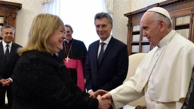 Malcorra visitó al Papa Francisco