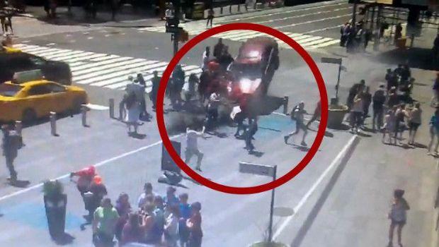 Time Square: así fue el momento exacto del accidente