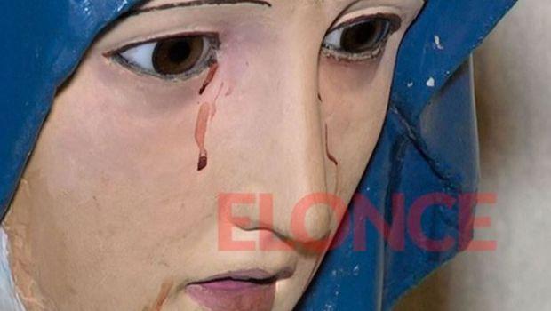 Virgen que llora sangre conmociona a Paraná