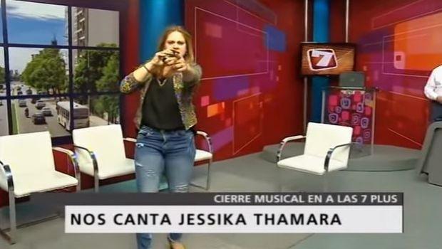 Jessika Thamara cantó en #Alas7