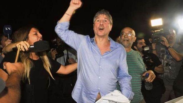 Amado Boudou fue excarcelado y salió en libertad