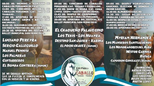 La Fiesta del Caballo trae una cartelera con artistas internacionales