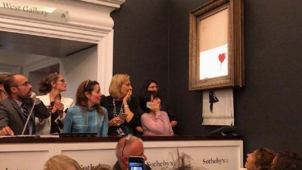 Una obra de arte se autodestruyó al ser subastada por un millón de euros