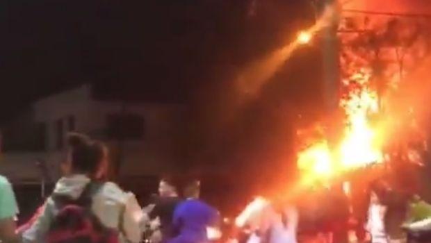 Se incendió un depósito en la ciudad de Concepción