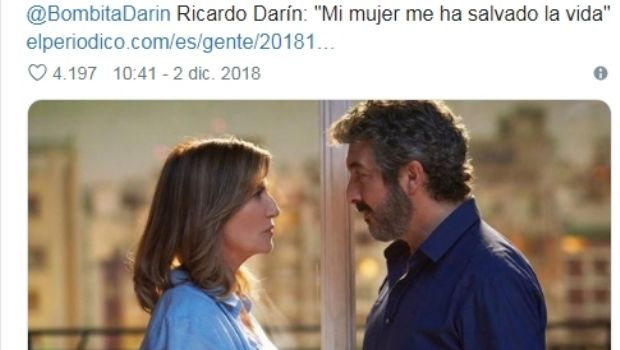 ¡Un tierno! Las dulces palabras de Darín sobre su esposa de las que hablan en el mundo