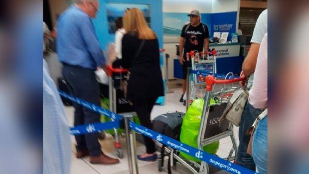 Retuvieron en el aeropuerto de Barajas al barra brava de Boca