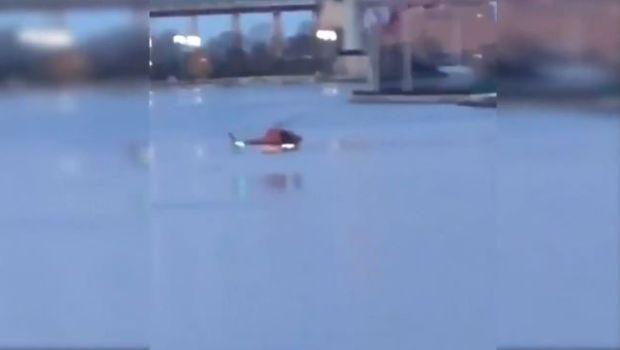 Murió una argentina al caer helicóptero al río en Nueva York