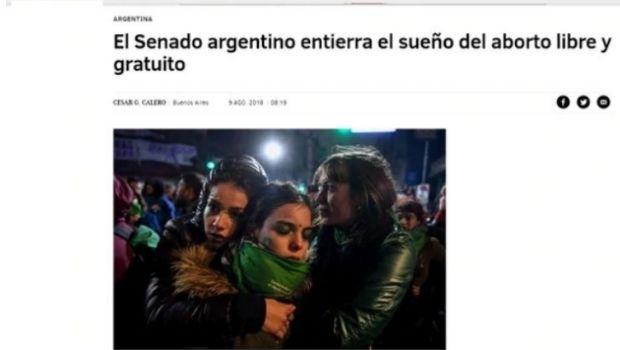 Asi vio el mundo el rechazo a la legalización del aborto en Argentina