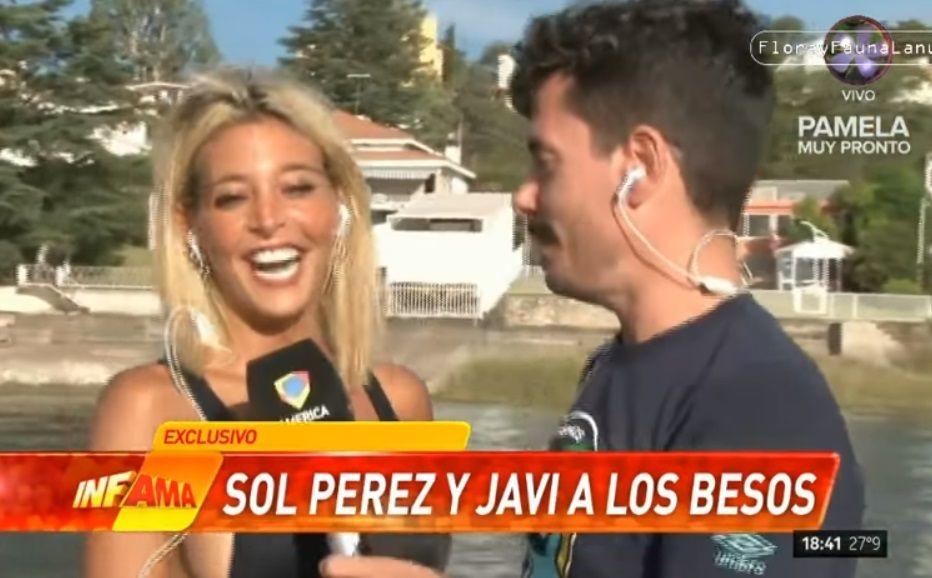 Sol Pérez le partió la boca a un cronista en vivo