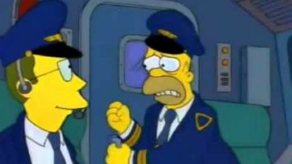 Convive 'Homero' con pasajeros en avión