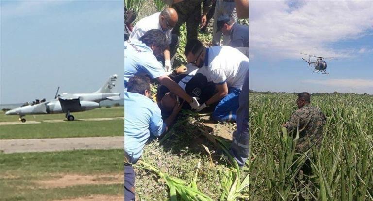 Avión aterrizó de emergencia en Córdoba, un piloto está grave