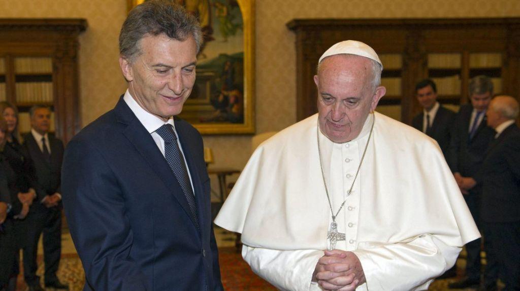 Macri saludó a Francisco al cumplirse el quinto año de su papado