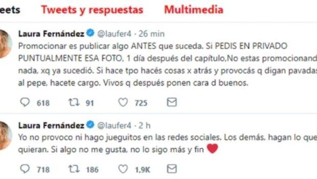 Laurita Fernández atacó a Flor Vigna por una foto con Cabré