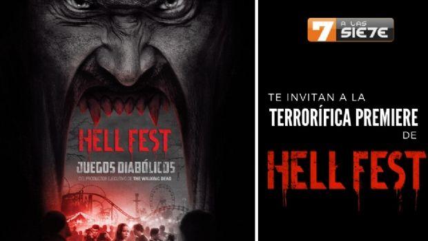 Espectacular #sorteo para ver el Avant Premiere de Hell Fest