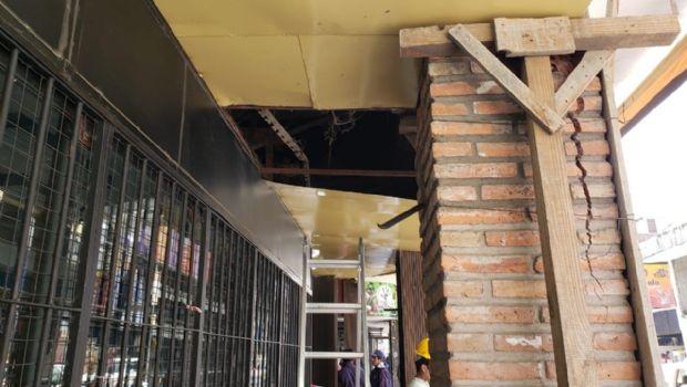 Peligro de derrumbre en Maipú al 200