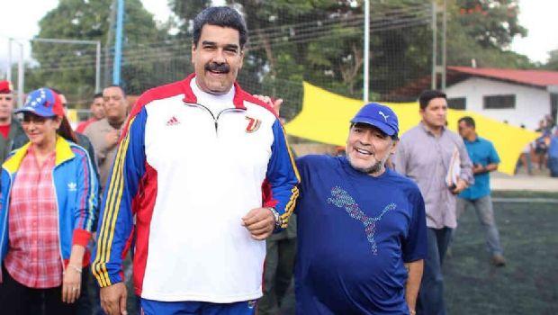 """Maradona: """"Hugo Chávez nos marca el camino, y ese camino es Maduro"""""""