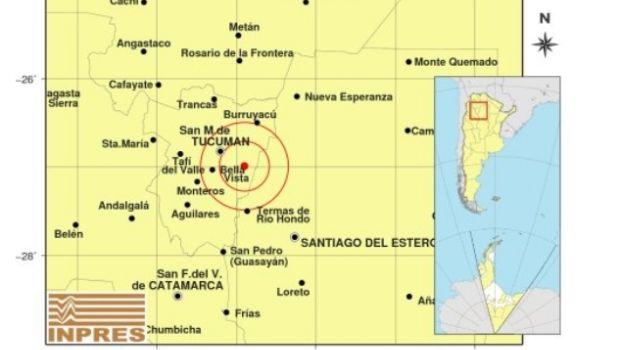 Nuevamente un sismo sacudió Tucumán