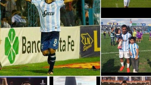 """Con una emotiva carta el """"Bebe"""" Acosta se despidió de los hinchas de Atlético"""