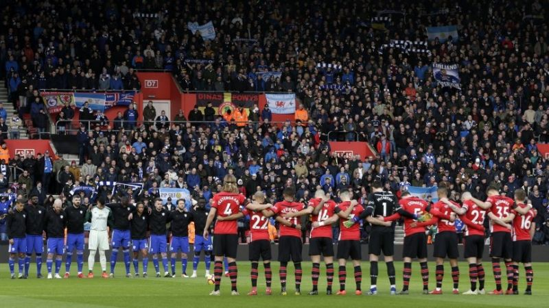 Homenajearon en la Premier League a Emiliano Sala