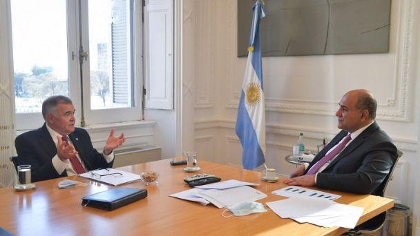 Osvaldo Jaldo se reunió con Juan Manzur en Casa Rosada
